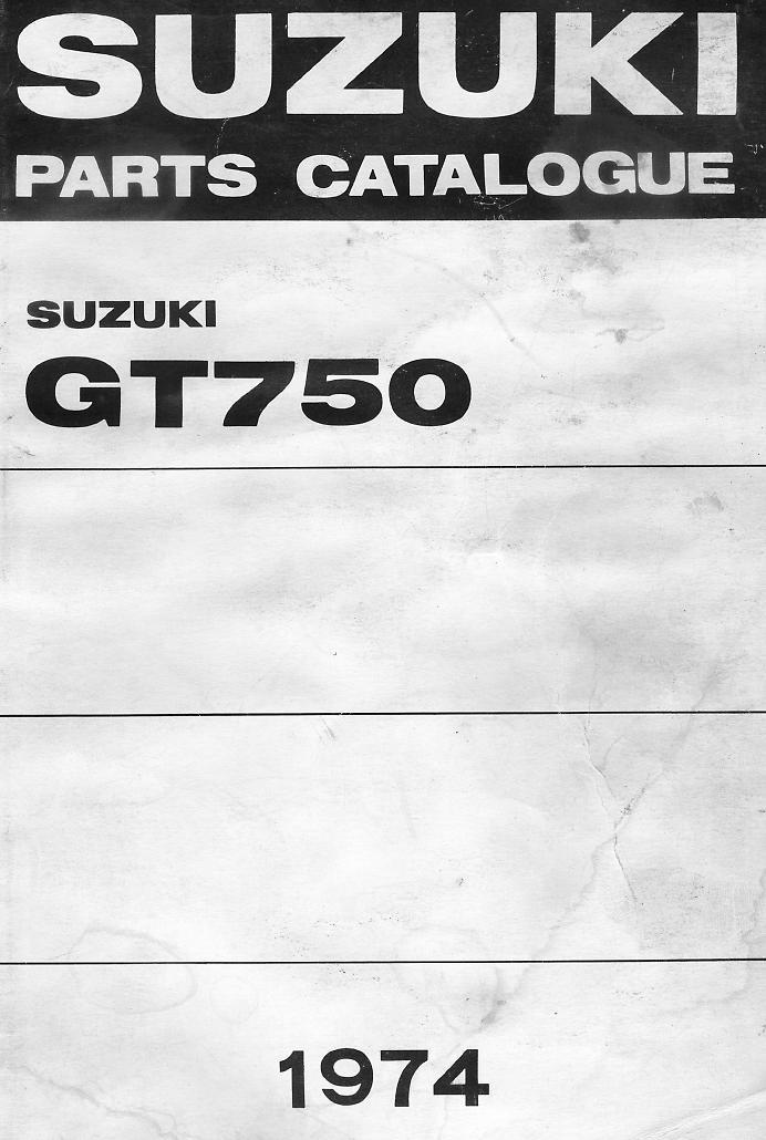 GT 750 Parts Manual Index